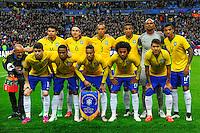 Conmebol - Copa America CHILE 2015 / <br /> Brazil National Team - Preview Set // Team Group , from the left up :<br /> Thiago Silva ,Filipe Luis ,Joao Miranda ,Danilo ,Jefferson ,Luiz Gustavo // Oscar ,Elias ,Neymar ,Willian ,Roberto Firmino