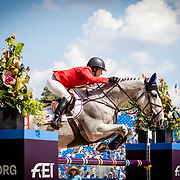 Laura Kraut (USA) and Zeremonie at the 2018 FEI World Equestrian Games™ Tryon 2018 where Land Rover is the official vehicle sponsor, on September 20, 2018 in Mill Spring, North Carolina.