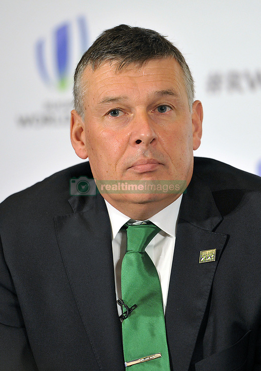 IRFU Chief Executive Philip Browne, during the 2023 Rugby World Cup host candidates presentations at the Royal Garden Hotel in London, as Ireland bid to host the event against France and South Africa.