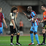 Trabzonspor's Deguy Alain Didier ZOKORA (2ndR) during their UEFA Champions League third qualifying round, second leg, soccer match Trabzonspor between Benfica at the Ataturk Olimpiyat Stadium at ›stanbul Turkey on Wednesday, 03 August 2011. Photo by TURKPIX