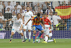 August 27, 2017 - Madrid, Spain - Carlos Soler with the ball. LaLiga Santander matchday 2 between Real Madrid and Valencia. The final score was 2-2, Marco Asensio scored twice for Real Madrid. Carlos Soler and Kondogbia did it for Valencia. Santiago Bernabeu Stadium, august 27, 2017. Photo by  (Credit Image: © |Antonio Pozo |  Media Expre/VW Pics via ZUMA Wire)