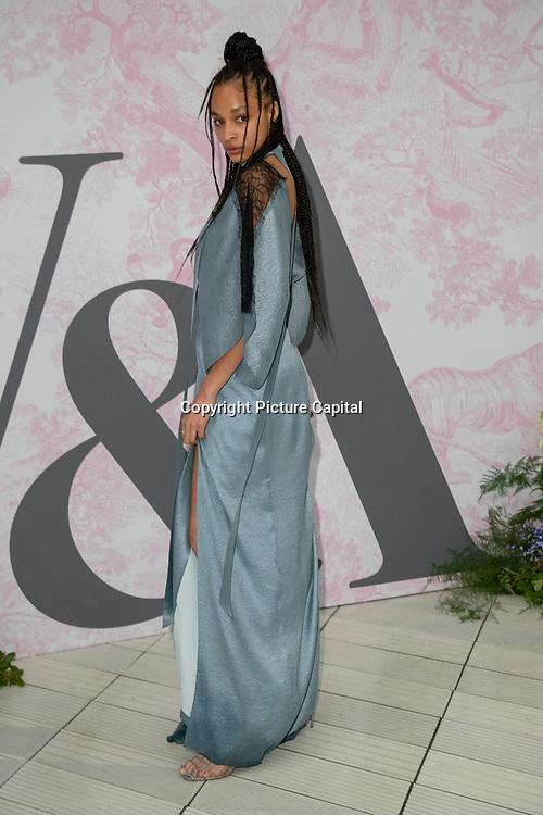 Brionka Halbert arrives at V&A - summer party, on 19 June 2019, London, UK