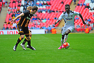 Mustapha Bundu of Hereford FC during the FA Vase match between Hereford FC and Morpeth Town at Wembley Stadium, London, England on 22 May 2016. Photo by Mike Sheridan.