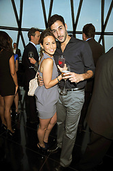 Singer RACHEL STEVENS and ALEX BOURNE at the Variety Club gala evening held at The Gherkin, St.Mary Axe, City of London on 2nd July 2009.