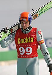 Jure Bogataj of SK Triglav at Slovenian National Championship in Ski Jumping on February 12, 2008 in Kranj, Slovenia . (Photo by Vid Ponikvar / Sportal Images).