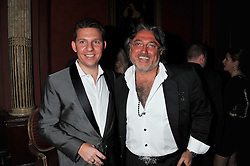 Left to right, NICK CANDY and ROBERT TCHENGUIZ at the 39th birthday party for Nick Candy in association with Ciroc Vodka held at 5 Cavindish Square, London on 21st Januatu 2012.