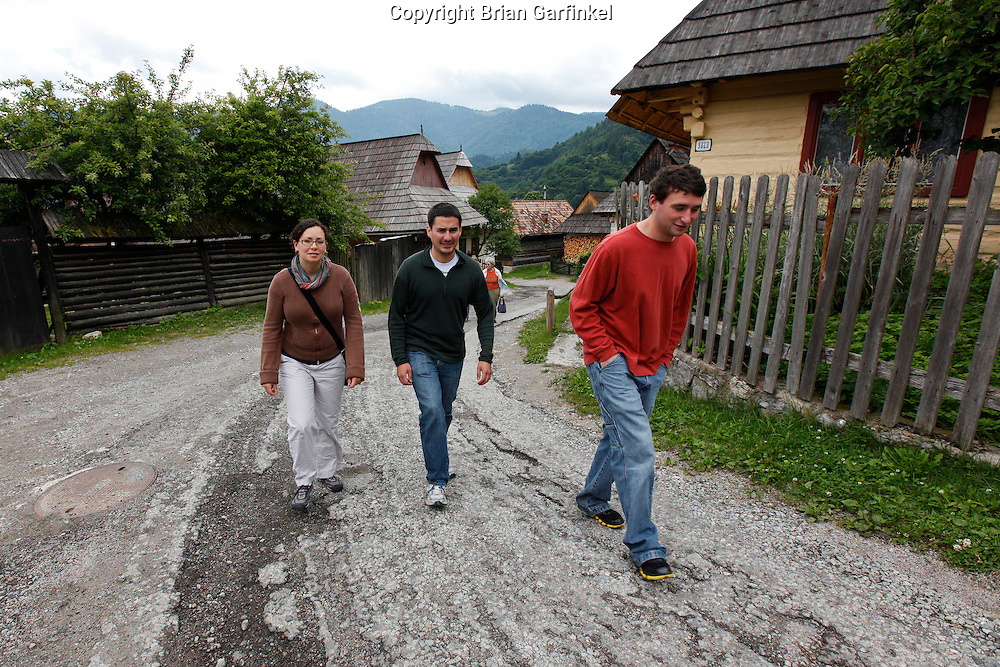 Kate, Jesus, and Joel in Vilkolinec, Slovakia on Wednesday July 6th 2011.  (Photo by Brian Garfinkel)