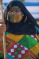 Emirats Arabe Unis, Emirat de Al Ain, femme avec un masque islamique // United Arab Emirates, Al Ain Emirate, woman with muslim mask
