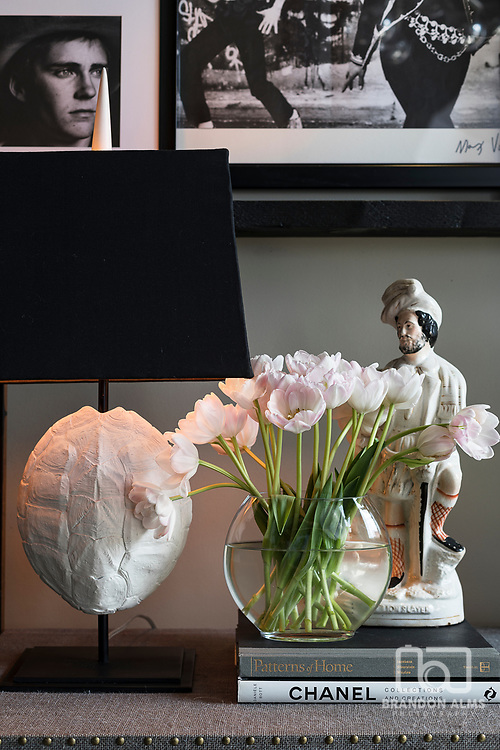 A closeup styled detail shot in a home. Photo by Brandon Alms Photography