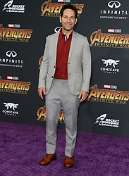 Marvel Studios Avengers: Infinity War World Premiere in Hollywood, California on 4/23/18. 23 Apr 2018 Pictured: Paul Rudd. Photo credit: River / MEGA TheMegaAgency.com +1 888 505 6342