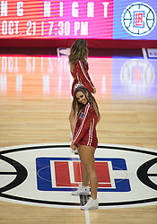 October 12, 2017 - Los Angeles, California, U.S - The Clipper girls perform during the preseason game between the Los Angeles Clippers and the Sacramento Kings Thursday October 12, 2017 at the Galen Center in USC in Los Angeles, California. Clippers defeat Kings, 104-87. (Credit Image: © Prensa Internacional via ZUMA Wire)
