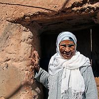 Africa, Morocco, Ouarzazate. Berber Woman of Ouarzazate.