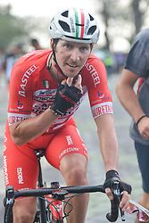 March 24, 2018 - Muar, Malaysia - Italian cyclist Manuel Belletti (Left) from Androni Giocattoli Sidermec Team wins the seventh stage, the 222.4 km from Nilai to Muar, of the 2018 Le Tour de Langkawi. .On Saturday, March 24, 2018, in Muar, Malaysia. (Credit Image: © Artur Widak/NurPhoto via ZUMA Press)