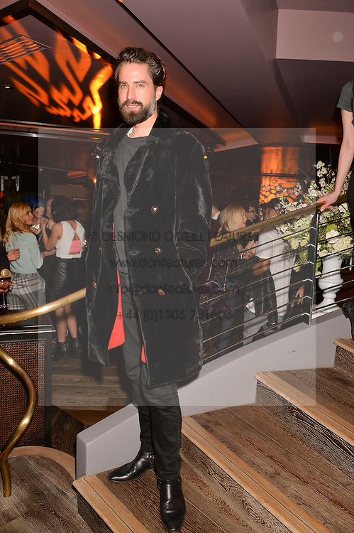 JACK GUINNESS at a party to celebrate the opening of 100 Wardour Street, Soho, London on 28th January 2016.