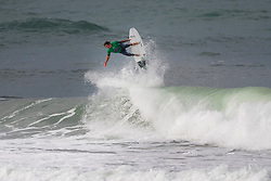 Albee Layer (HAW) surfing in Qualifying Round 1 Heat 3 of the WSL Redbull Airborne event in Hossegor, France.