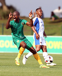 Lerato Lamola of Golden Arrows during the 2016 Premier Soccer League match between Golden Arrows and Chippa United held at the Princess Magogo Stadium in Durban, South Africa on the 15th October 2016<br /> <br /> Photo by:   Steve Haag / Real Time Images