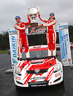 Neal Bates & Coral Taylor with championship trophy.Motorsport-Rally/2008 Coffs Coast Rally.Heat 2.Coffs Harbour, NSW.16th of November 2008.(C) Joel Strickland Photographics