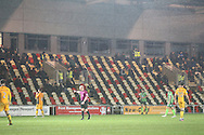 Attendances have been very low during the EFL Check-a-Trade Trophy matches. EFL Trophy Southern Group B match between Newport County and AFC Wimbledon at Rodney Parade, Newport, Wales on 8 November 2016. Photo by Stuart Butcher.
