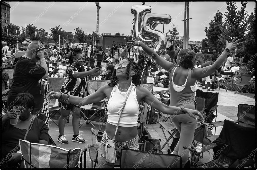 NEWARK, NEW JERSEY: The House crowd is shown during Bang The Drum House Music a day in the park at Mulberry Commons in in Newark, NJ on Sunday, August 29, 2021. (Brian B Price/TheFotodesk).