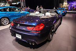 NEW YORK, USA - MARCH 23, 2016: BMW M6 convertible on display during the New York International Auto Show at the Jacob Javits Center.