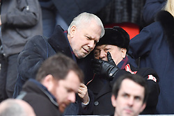 West Ham United co-owners David Sullivan (right) and David Gold during the Emirates FA Cup, fourth round match at the DW Stadium, Wigan.