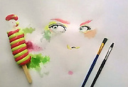 """Artist paints with Ice Cream Instead of Paint<br /> <br /> Othman Toma, an artist from Baghdad, Iraq, has put his watercolor skills to the test by painting with a very unusual """"paint""""- melted ice-cream.<br /> <br /> The ice-cream isn't too far from Toma's usual work – he usually paints with watercolors or draws with pencils. Some have raised doubts about whether he really could have gotten the colors that he did with ice-cream, but if his claims are true, his paintings prove that art can be made with just about anything!<br /> ©Othman Toma/Exclusivepix"""
