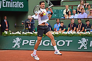 Novak Djokovic (SRB) during the prelminary rounds of the Roland Garros Tennis Open 2017 at Roland Garros Stadium, Paris, France on 2 June 2017. Photo by Jon Bromley.