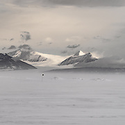 Transantarctic Mountains photographed from SIMPLE camp located on the frozen sea ice of McMurdo Sound
