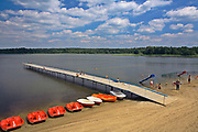 Goldap, 2008-07-11. Plaża nad jeziorem Gołdap