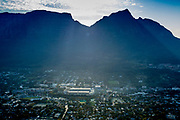 DHL Newlands Stadium during the Stormers - Chiefs rugby game 8th April 2017. Photographs captured from a helicopter with all necesssary permissions granted. Image by Greg Beadle Commercial photography commissioned to Beadle Photo by international brands