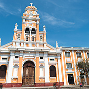 The Barque styled Iglesia de Xalteva, in the western part of Granada, was originally built in the 19th century, but it has been destroyed and rebuilt several times since, most recently in 1921.