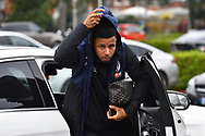 Lys Mousset (9) of AFC Bournemouth puts his hood up as he gets out of his car on arrival at the Vitality Stadium before the The FA Cup 3rd round match between Bournemouth and Brighton and Hove Albion at the Vitality Stadium, Bournemouth, England on 5 January 2019.