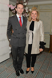 LORD ELCHO and SERENA FRESSON at the launch of Mrs Alice in Her Palace - a fashion retail website, held at Fortnum & Mason, Piccadilly, London on 27th March 2014.