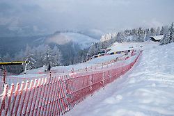 17.01.2017, Hahnenkamm, Kitzbühel, AUT, FIS Weltcup Ski Alpin, Kitzbuehel, Abfahrt, Herren, Streckenbesichtigung, im Bild Mausefalle // Mausefalle during the course inspection for the men's downhill of FIS Ski Alpine World Cup at the Hahnenkamm in Kitzbühel, Austria on 2017/01/17. EXPA Pictures © 2017, PhotoCredit: EXPA/ Johann Groder