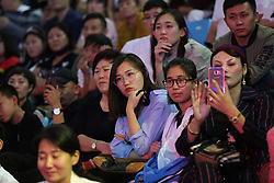 September 5, 2017 - Shenyang, Shenyang, China - Shenyang, CHINA-5th September 2017: (EDITORIAL USE ONLY. CHINA OUT) ..Nick Vujicic gives a speech at Shenyang University in Shenyang, northeast China's Liaoning Province, September 5th, 2017. Nicholas James Vujicic is an Australian motivational speaker born with tetra-amelia syndrome, a rare disorder characterized by the absence of arms and legs. (Credit Image: © SIPA Asia via ZUMA Wire)