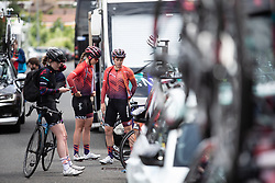 CANYON//SRAM Racing riders are ready for Stage 2 of 2019 OVO Women's Tour, a 62.5 km road race starting and finishing in the Kent Cyclopark in Gravesend, United Kingdom on June 11, 2019. Photo by Balint Hamvas/velofocus.com