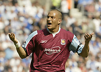 Photo: Aidan Ellis.<br /> Wigan Athletic v West Ham United. The Barclays Premiership. 28/04/2007.West Ham's Bobby Zamora celebrates the first goal