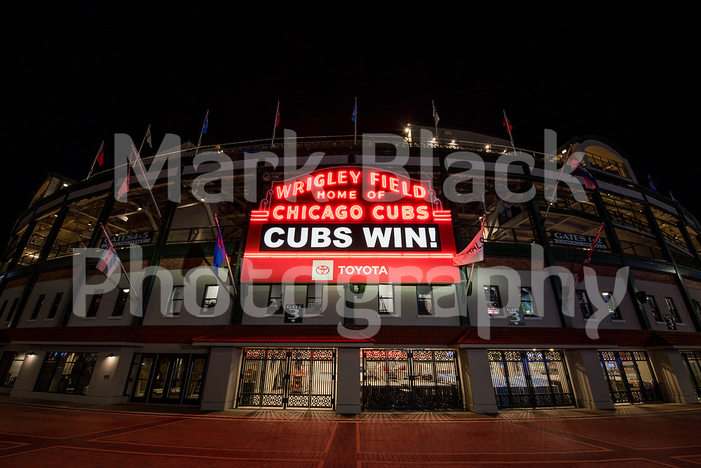 Wrigley Field home of the Chicago Cubs in Chicago on Tuesday, Aug. 18, 2020.  Photo by Mark Black