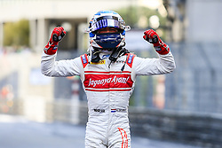May 27, 2017 - Monte-Carlo, Monaco - 18 DE VRIES Nyck from Netherlans of Rapax celebrating his victory of Race 2 during the Monaco Grand Prix of the FIA Formula 2 championship, at Monaco from May 25 to 28 of 2017. (Credit Image: © Xavier Bonilla/NurPhoto via ZUMA Press)