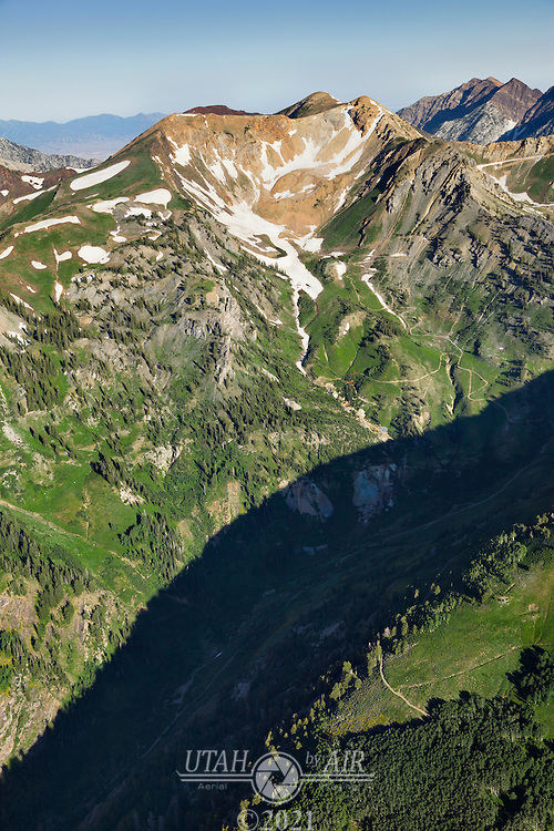 Mountain Roads and old mines in American Fork Canyon
