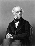 William Ewart Gladstone (1809-1898) British Liberal statesman. Engraving published c1870.