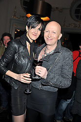 RICHARD O'BRIEN and SABRINA GRAF at the opening night performance of The Rocky Horror Show, This performance is to celebrate the 40th Anniversary UK Tour, at The New Wimbledon Theatre, Wimbledon, London SW19 on 21st January 2013.