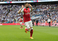 Football - 2017 FA Cup Final - Arsenal vs. Chelsea<br /> <br /> Olivier Giroud of Arsenal celebrates after his cross was headed home by team mate Aaron Ramsey at Wembley.<br /> <br /> COLORSPORT/DANIEL BEARHAM