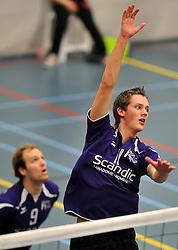 18-02-2012 VOLLEYBAL: TAUW GEMINI S - VOCASA: HILVERSUM<br /> B League heren, VoCASA wint vrij eenvoudig in Hilversum 22-25, 20-25, 22-25 / Tim Konings<br /> ©2012-FotoHoogendoorn.nl