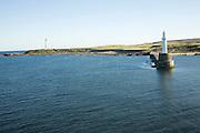 Nigg Lighthouse harbour entrance Aberdeen, Scotland