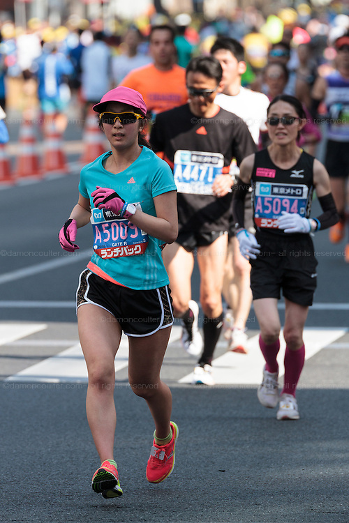 The 10th Tokyo Marathon took place on a fine spring day in Tokyo Japan. Sunday February 28th 2016. Thirty-six thousand runners took part with Ethiopian,  Feyisa Lilesa winning the  men's competition and  Kenyan, Helah Kiprop victorious in the women's race.