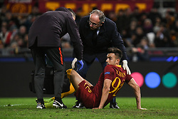 November 27, 2018 - Rome, Italy - Stephan El Shaarawy of AS Roma injured during the Champions league football match between AS Roma  and Real Madrid at Olimpico stadium in Rome, Italy, on November 27, 2018. (Credit Image: © Federica Roselli/NurPhoto via ZUMA Press)