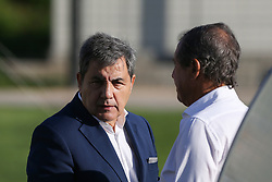 October 5, 2017 - Oeiras, Lisbon, Portugal - FPF's President Fernando Gomes (L) and FPF's Vice-President Humberto Coelho (R) during National Team Training session before the match between Portugal and Andorra at City Football in Oeiras, Lisbon on October 5, 2017. (Credit Image: © Dpi/NurPhoto via ZUMA Press)