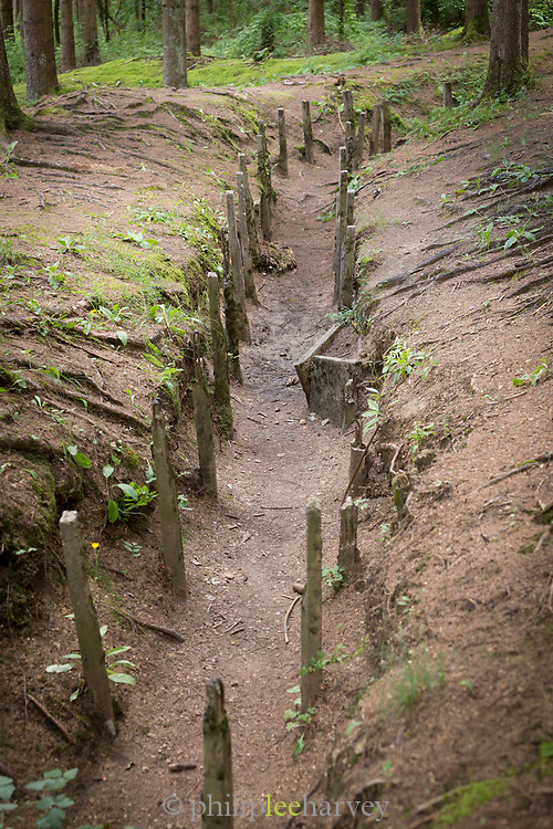 Remains of trench in Douaumont, France