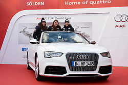 24.10.2013, Audi Lounge, Soelden, AUT, FIS Ski Alpin, Soelden, im Bild Team Italy during the Audi press conference prior to the alpine skiing world cup opening race at the Audia Lounge, Soelden, Austria on 2013/10/22. EXPA Pictures © 2013, PhotoCredit: EXPA/ Mitchell Gunn<br /> <br /> *****ATTENTION - OUT of GBR*****